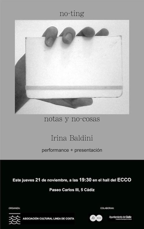 INVITACIÓN PERFORMANCE-PRESENTACIÓN IRINA BALDINI